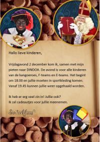 Sinterklaas komt 2 december naar Dindoa!